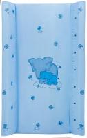 Пеленальный матрас Maltex мягкий 50х80 см  слоники, голубой. 34529