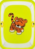 Манеж Qvatro LUX-02 мелкая сетка  желтый (tiger). 34214