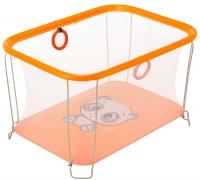Манеж Qvatro Солнышко-02 мелкая сетка  оранжевый (panda). 34249