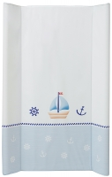 Пеленальный матрас Maltex мягкий 50х80 см  ocean & sea, белый. 34513