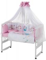 Детская постель Babyroom Bortiki Print-08  pink owl. 33387