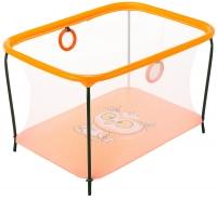 Манеж Qvatro LUX-02 мелкая сетка  оранжевый (owl). 34224