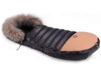 Зимний конверт Cottonmoose Alaska Premium 729/65/107/143 brown (черный-коричневый). 33501
