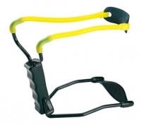 Рогатка Man Kung MK-T1 с упором ц:черный/желтый. 1000078