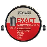 Пули пневматические (для воздушки) 4,5мм 0,87г (400шт) JSB Diabolo Monster. 14530534