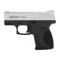 Пистолет стартовый Retay P114 кал. 9 мм. Цвет - nickel. 11950327