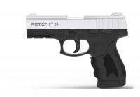 Пистолет стартовый Retay PT24 кал. 9 мм. Цвет - nickel. 11950339