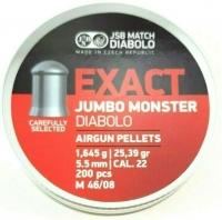 Пули пневматические (для воздушки) 5,5мм 1,645г (200шт) JSB Diabolo Exact Jumbo Monster. 14530529