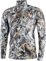 Термосвитер Sitka Gear Merino Core Lightweight Half-Zip. Размер - 2XL. Цвет: Optifade Elevated II. 36821514